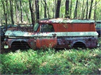 No more deliveries for this old Chevy panel van.Photo: Christina