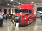 Freightliner also opted to show advanced production aerodynamics at