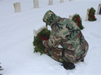 Member of Springfield, Mo., Civil Air Patrol helps lay wreaths at the
