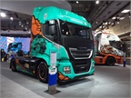 Colorful trucks from Italy s Iveco. Photo: Deborah Lockridge
