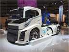 Volvo showed off its record-setting Iron Maiden, which showcases the