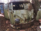 There are a few VWs on the property, including this old camper van.