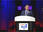 Kevin Burch, new ATA chairman, addresses attendees of the awards