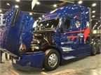 Freightliner this year was represented by a pair of Team Run Smart owner-operators. Photo: Deborah Lockridge
