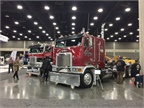 Antique and classic trucks were on display at various locations