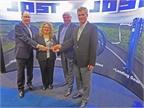 From left, Rich Carroll, Jost VP sales & marketing; Deborah