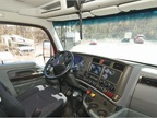 The interior of the T880 dump truck is spacious and comfortable, with