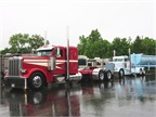Some of the first trucks lined up for judging on Day 1 of the 32nd