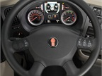 Kenworth s SmartWheel puts the most frequently used controls such as