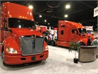 Sharp-looking Kenworth trucks on the TMC show floor. Photo: Jack