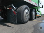 Wide-single tires, wheel covers and porous  aero  mudflaps all