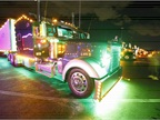 The nighttime truck parade during the 32nd Annual Shell SuperRigs