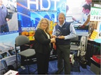 Jim Maiorana, president of Mac Liquid Tank Trailers, accepts the HDT