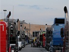 More than 70 trucks were on site by late afternoon Wednesday. More