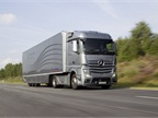 Daimler showed off this Mercedes European fuel-efficiency concept rig