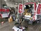 The Meritor training van brings hands-on training to various locations