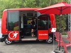 EasyMile/Transdev EZ10 is a  driverless  shuttle that can haul six