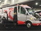 Ryder showed off this Chanje battery-electric cargo van, which it has begun offering to rental customers in California.