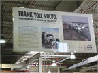 Several signs like this in the plant share the stories of accident