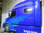 This display was designed to show off the abilities of Volvo s paint