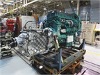 Most powertrains at the plant are Volvo engines with I-Shift automated