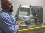 Cab cutaway display shows off structural integrity