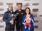 2017 Grand Champion Justin Euler, his wife Erin and 8-week old son,
