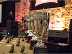 Award Trophys await their proud new owners.