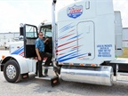 Forrest Lucas and his original owned and operated 1989 Peterbilt