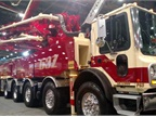 Mack s MR is the chassis chosen for most large pumpers, like this