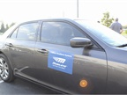 During the ride and drive, Mobileye demonstrated its safety system for