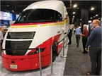 Shell's Starship concept truck draws crowds on the show floor.