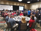 Competitors enjoy socializing during the awards luncheon. Photo: Tom