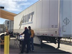 Some of the trailer technician stations were set up outside of the facility.