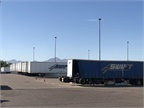 Swift s campus is a vast complex with hundreds of vehicles and