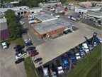 This is an aerial view of Thompson Truck & Trailer's Cedar