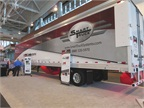 SmartTruck showcased its aerodynamic system, which is installed