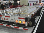 New Trail King aluminum dropdeck trailer.