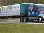 A new Kenworth T680 76-inch mid-roof sleeper built in October by