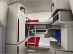 In the double bunk configuration, there s room to sit on the lower