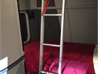To make getting into the upper bunk a breeze, there s a ladder that