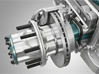 New Volvo air disc brakes  feature a smaller, lighter disc for front