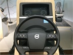 A demonstration station shows how to use the new steering wheel