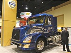 One of Volvo s DME powered trucks on display