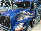 A Volvo CNG-powered truck at the MATS booth.