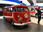 Delivering flower power to the VW booth is this 1967 classic. Photo: