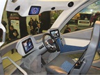 The Walmart WAVE concept truck s interior features a single driver