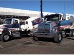 Professional drivers ran a timed maneuver course with Western Star