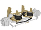 Ridewell Updates Self-Steer Suspension for I-Beam Axle Integration