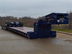 Lowboy Trailer Features Extendable Deck